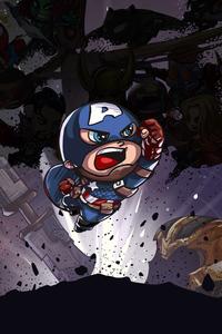 480x800 Captain America Little Art