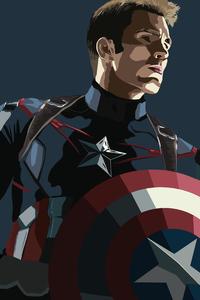 Captain America Low Poly Digital Art