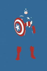 1125x2436 Captain America Marvel Comics Minimalism