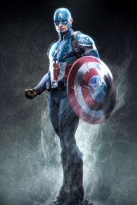1280x2120 Captain America Marvel Superhero