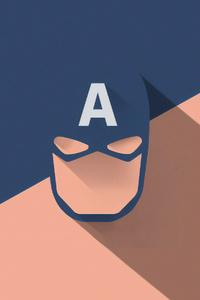1080x2280 Captain America Mask Minimal