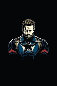 640x1136 Captain America Minimal 4k