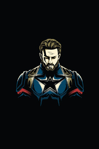Captain America Minimal Design