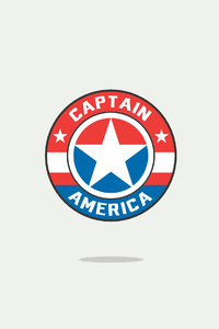 Captain America Minimal Logo 4k