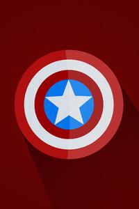 480x800 Captain America Minimal Logo 5k
