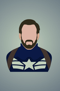 750x1334 Captain America Minimalism 12k