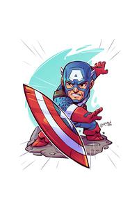 1080x2160 Captain America Minimalism 4k