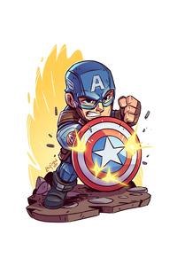 Captain America Minimalist Art 4k