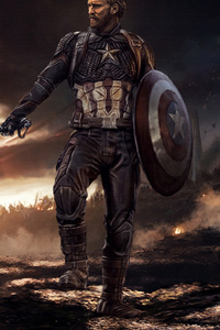 1125x2436 Captain America Mjolnir And Shield 2020