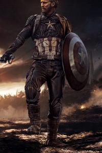 1440x2960 Captain America Mjolnir And Shield 2020