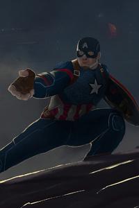 Captain America Mjolnir And Shield