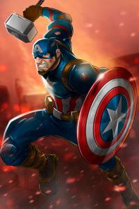 Captain America Mjolnir Art Hd