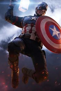 1080x2280 Captain America Mjolnir Artwork 4k
