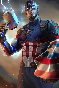 Captain America Mjolnir Artwork