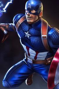 1080x2280 Captain America New 4k