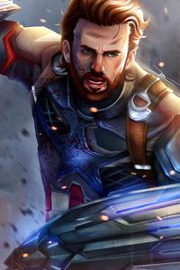 1080x2280 Captain America New 4k Art