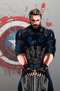 Captain America New Art 4k