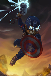 640x960 Captain America New Hammer