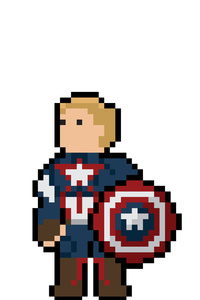 Captain America Pixel Art