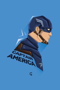 320x480 Captain America Pop Head Minimal 5k