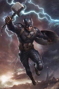 640x960 Captain America Powers 4k