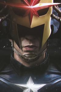 1080x2280 Captain America Putting Helmet 4k