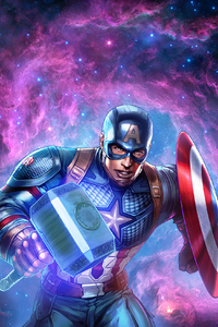 640x960 Captain America Shield And Hammer