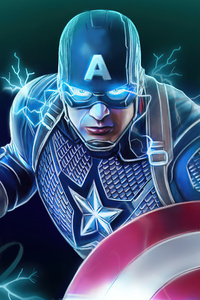 1125x2436 Captain America Shield And Hammer Power