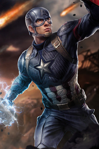 640x1136 Captain America Shield And Thor Hammer