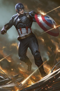 Captain America Shield Artwork HD