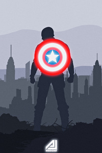 720x1280 Captain America Shield Artwork