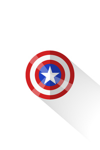 1125x2436 Captain America Shield Minimal 5k