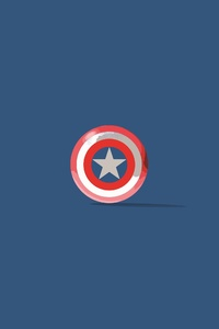 Captain America Shield Minimalism