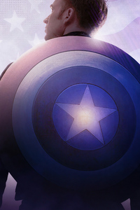 Captain America Shield On Back 4k