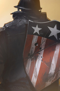 640x960 Captain America Shield With Gun