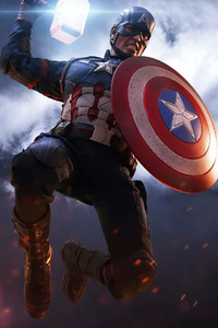 1440x2560 Captain America Shield With Hammer