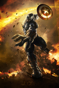 240x400 Captain America Shieldart4k