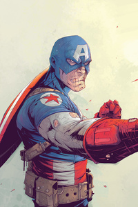 1125x2436 Captain America Suit Cool Artwork