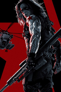 720x1280 Captain America The Winter Soldier Bucky Poster 5k
