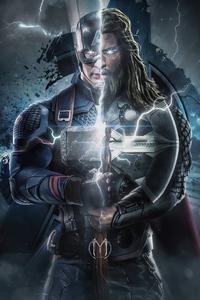2160x3840 Captain America Thor 4k