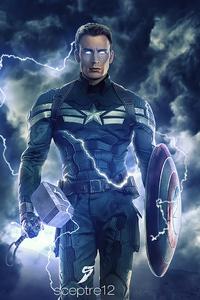 1280x2120 Captain America Thunder Lighting