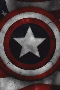 640x1136 Captain America Us Flag 4k
