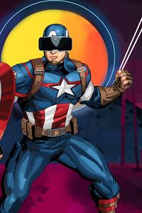 Captain America Using VR Headset