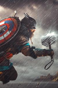 640x1136 Captain America Valhalla 4k