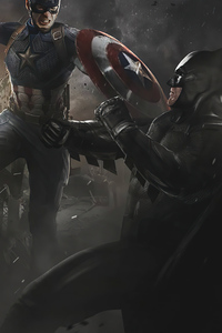 1125x2436 Captain America Vs Batman 4k