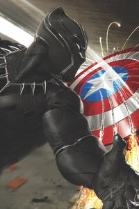 Captain America Vs Black Panther
