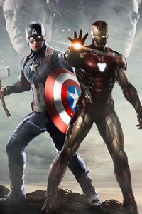 1125x2436 Captain America Vs Iron Man 4k Artwork