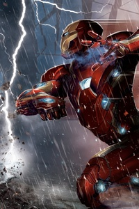 320x568 Captain America Vs Iron Man Comic 5k