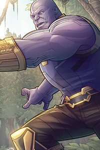320x568 Captain America Vs Thanos 2020 4k