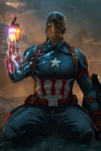 1440x2560 Captain America What If Infinity Gauntlet